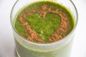 Groene smoothie valentijn klein