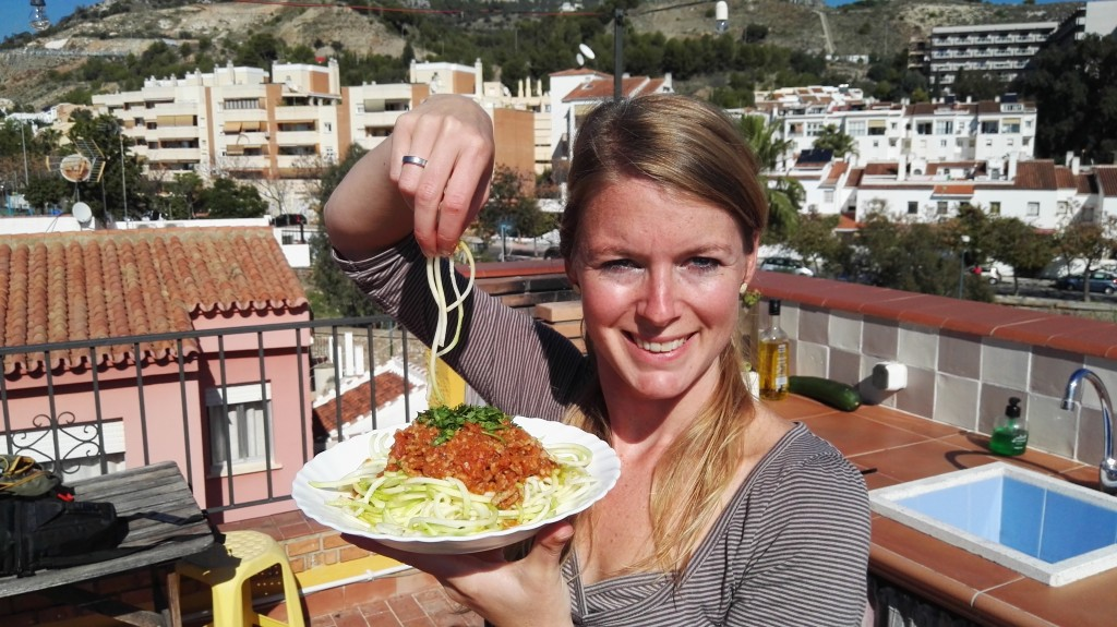 supergezonde courgette spaghetti bolognese