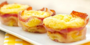 paasbrunch recept  ei bacon muffin