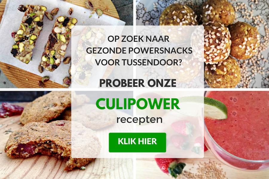 culipower gezonde snackrecepten voor tussendoor