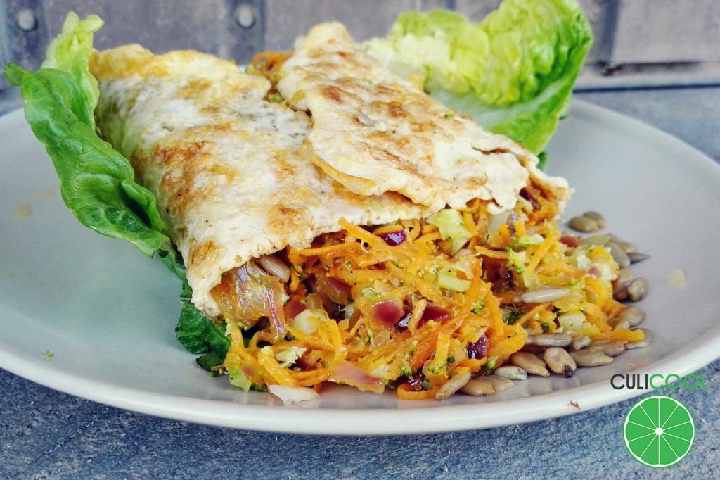 calzone omelet zoete aardappel makkelijke gezonde maaltijd logo
